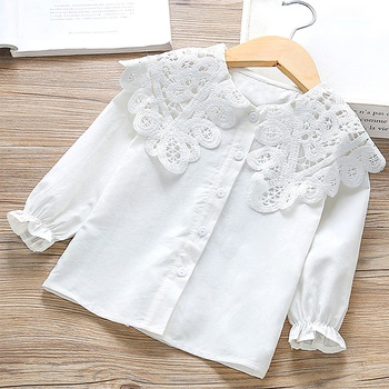 Baby / Toddler Lace Collar White Long-sleeve Shirt