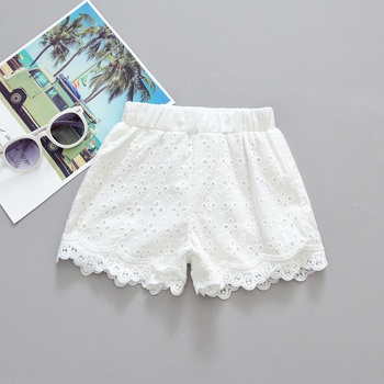 Baby / Toddler Girl White Lace Shorts