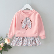 Baby / Toddler Floral Bunny Ear Splice Pullover