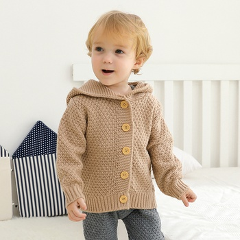 1pc Baby Long-sleeve Hooded Unisex Avant-garde Sweaters
