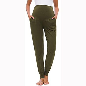 Maternity casual Plain Dark Green Casual pants
