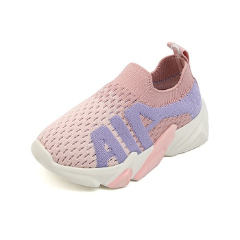Toddler / Kid Mesh Breathable Slip-on Sports Shoes