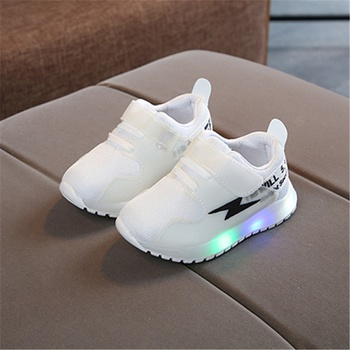 Baby / Toddler Lightning Print LED Sport Shoes