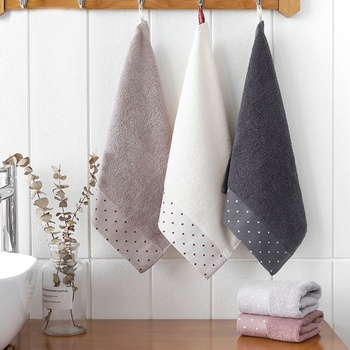 5-pack Soft Dotted Cotton Towels for Baby