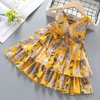 Baby / Toddler Girl Pretty Floral Print Layered Dresses