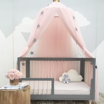 Stylish Baby Mosquito Net, Star and Crown decor(not Include Stars Decor )