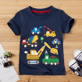 Baby/ Toddler Boy's Excavator Pattern Tee