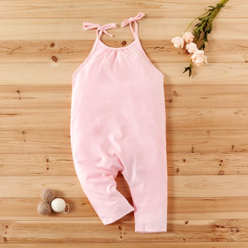 Baby / Toddler Girl Solid Halter Onesies