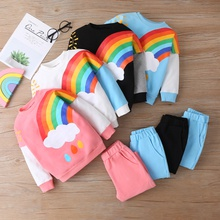 2-piece Baby / Toddler Rainbow Top and Pants Set