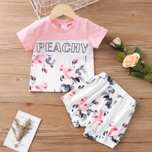 2pcs Baby Girl Sweet Short-sleeve Cotton Baby's Sets