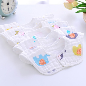 5-pack 360 Degree Reversible Cartoon Design Bib