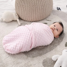 Baby Blanket Swaddle Wrap Winter Plush Hooded Sleeping Bag