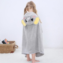 Cartoon Hooded Elephant Baby Bathrobe Cotton Baby Spa Towel Kids Bath Robe Infant Beach Towels