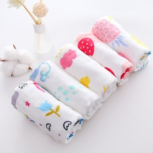 5-pcs Cotton Cute Baby Bips Gauze Newbron Toddler Kids Gauze Burp Cloth Feeding Apron Baby Saliva Towel Scarf Bandana Bibs Baby Stuff