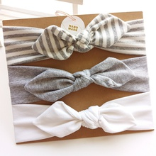 3-pack Pretty Bowknot Decor Headband Set for Baby Girl