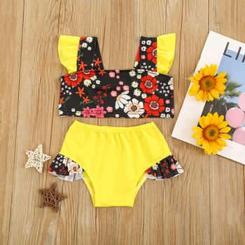 2pc Baby Girl Floral Swimsuits