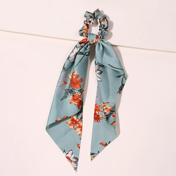Women Vintage Scrunchies With Print Flower Hair Ties Hair Holder Rubber Bands Gum For Hair Hair Accessories