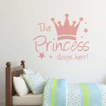 Creative Adhesive PRINCESS SLEEPS HERE Wall Sticker