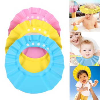 Multi-function Bathing Protection Adjustable Baby Shower Cap