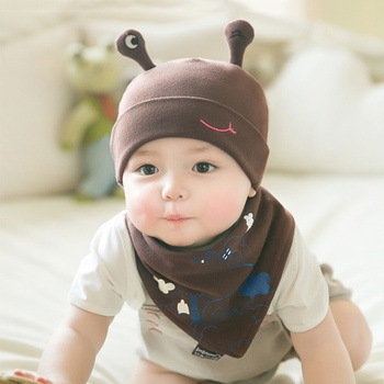 2-pack Baby Cartoon Snail Hat and Scarf set