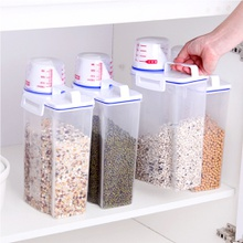Practical Transparent Plastic Sealed Cans and Scale Storage Tank Set for Food