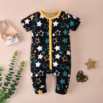 Baby Stars Allover Cardigan Jumpsuit
