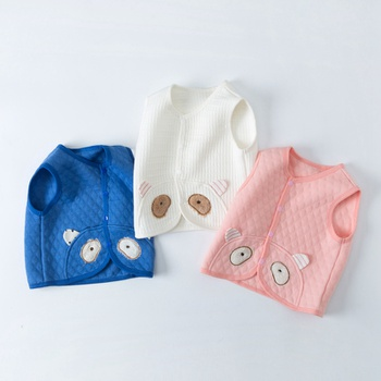 Baby Boy casual Animal & Pig Coat & Jacket Cotton Sleeveless Cute Infant Clothing Outfits