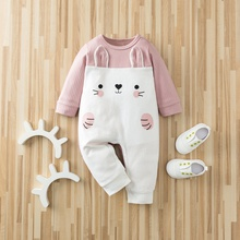 Baby Adorable Rabbit Splice Jumpsuits