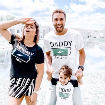 Mosaic Energy Charging Family Matching T-shirts