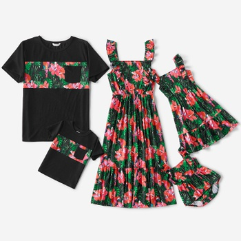 Mosic Floral Print Family Matching Sets