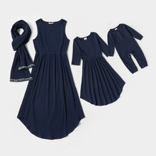 Mommy and Me Navy Blue Cotton Dresses