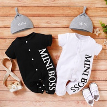 Baby Boy MINI BOSS Jumpsuits with Hat