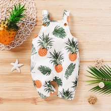 Baby Pineapple Allover Strappy Bodysuits