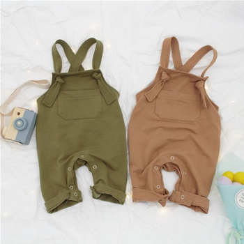 Baby  Overalls Back tie closure Jumpsuit