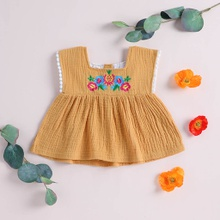 Baby / Toddler Embroidered Floral Top
