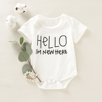 Baby Hello I AM NEW HERE Bodysuit
