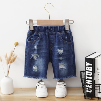 Toddler Boy Chic Streetwear Ripped Jeans