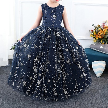 Pretty Sequined Star Pattern Sleeveless Party Dress