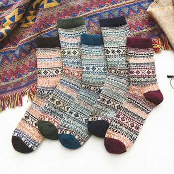 Men's Thick Wool Socks Casual Winter Thick Warm Socks High Quality Harajuku Retro Warm Sock
