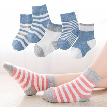 5-pack Baby / Toddler / Kid Striped Socks