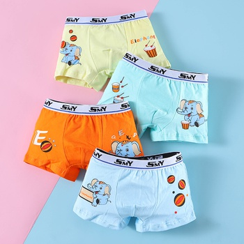 4-Pack Baby / Toddler Boy Elephant Cutie Knickers