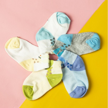 5-pack Baby / Toddler / Kid Colorblock Breathable Socks