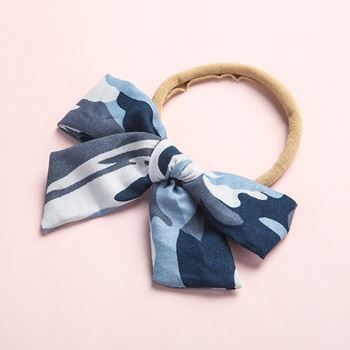 Pretty Camouflage Bowknot Hairband for Girls