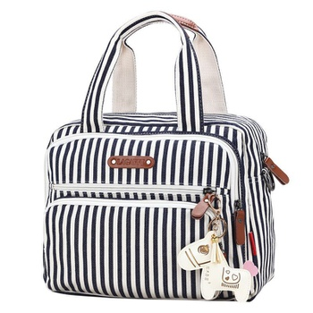 Stylish Striped Horse Decor Diaper Bag