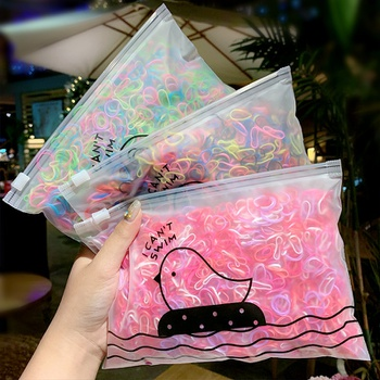 1000-piece Pretty Disposable Hair Ropes for Girls