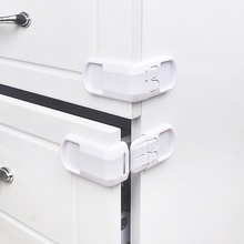 5-pcs Child safety drawer lock right angle lock baby drawer lock cabinet door lock double button drawer corner lock 5pcs
