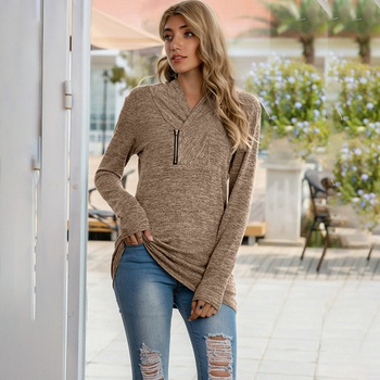 Plain long sleeve normal Pullover