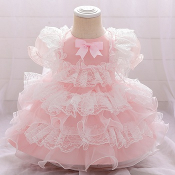 Baby / Toddler Girl Bowknot Lace Party Dress