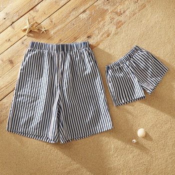 Pinstripe Shorts for Daddy and Me