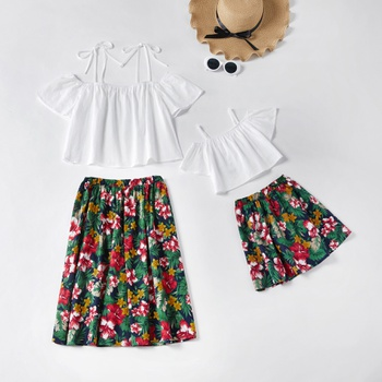 Off Shoulder Top and Floral Skirt Matching Sets